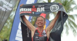 Diana Riesler the Queen of Langkawi the defending champion of IRONMAN Malaysia Langkawi for the fourth time in a row - Copy